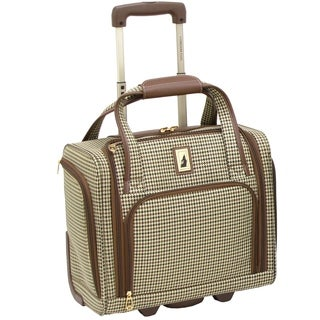 London Fog Cambridge 15-inch Rolling Carry-On Underseat Bag