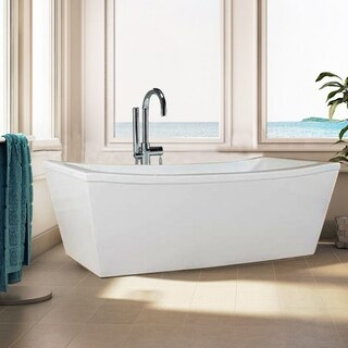 "Modetti Milan 70"" Freestanding Acrylic Bathtub, Glossy White"