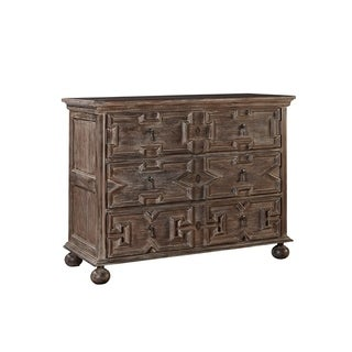Hugo Weathered Brown Mahogany Chest of Drawers