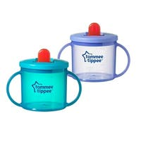 Tommee Tippee Free Flow Trainer 4M+, BPA Free, Valve Free, Hassle Free, Leak Proof, 6 Oz, 2 Cups (Colors May Vary)