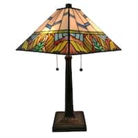 Amora Lighting AM304TL14 Tiffany Style Multi Color Mission Table Lamp 22 Inches Tall