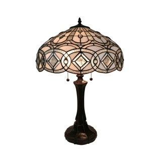 Amora Lighting AM296TL16 Tiffany Style Floral Design Table Lamp