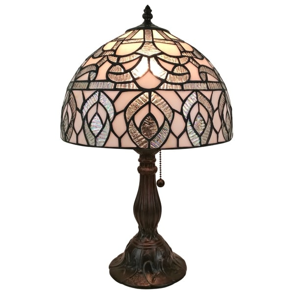 Amora Lighting AM276TL12 Tiffany Style Peacock Design Table Lamp