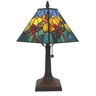 Amora Lighting AM288TL08 Tiffany Style Dragonfly Table Lamp