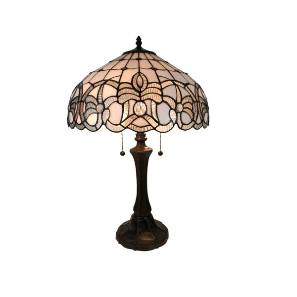 Amora Lighting AM293TL16 Tiffany Style Floral Design Table Lamp