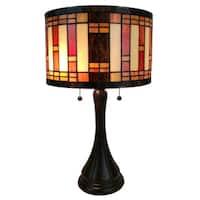 Amora Lighting AM287TL12 Tiffany Style Geometric Table Lamp
