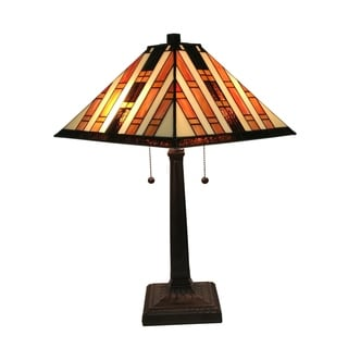 Amora Lighting AM291TL14 Tiffany Style Mission Table Lamp 22 Inch Tall