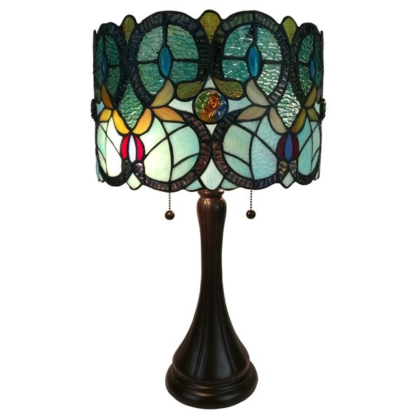 Shop Amora Lighting Am286tl12 Tiffany Style Floral Table Lamp Free