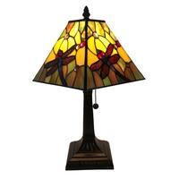 Amora Lighting AM289TL08 Tiffany Style Dragonfly Table Lamp