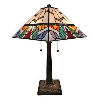 Amora Lighting AM305TL14 Tiffany Style Multi Color Mission Table Lamp 22 Inches Tall