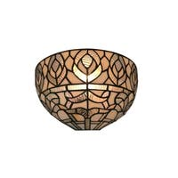 Amora Lighting AM278WL12 Tiffany Style White Wall Sconce 12 In Wide
