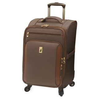 London Fog Kensington 21-inch Carry-On Expandable Spinner Suitcase (Option: Solid)