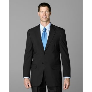 Twin Hill Mens Jacket Charcoal Poly/Wool 2-button (Option: 41r)