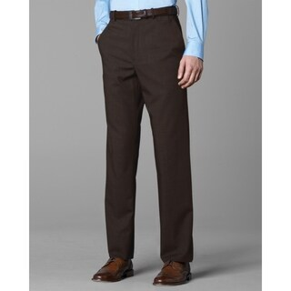 Twin Hill Mens Pant Brown Performance Flat Front