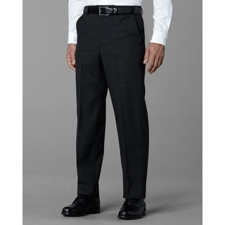 Twin Hill Mens Pant Charcoal Poly/Wool Flat Front