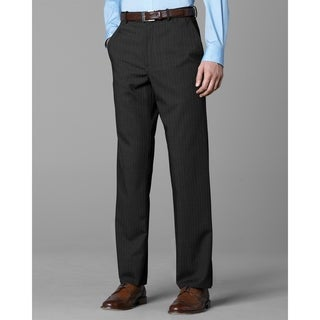 Twin Hill Mens Pant Grey Pinstripe Performance Flat Front