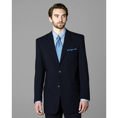 Twin Hill Mens Jacket Navy Pinstripe Performance 2-button