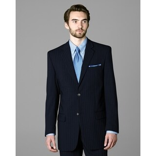 Twin Hill Mens Jacket Navy Pinstripe Performance 2-button (Option: 56r)