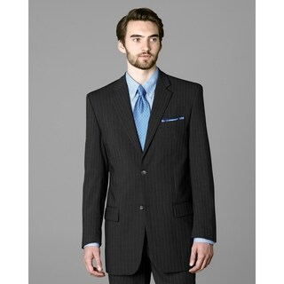 Twin Hill Mens Jacket Grey Pinstripe Performance 2-button
