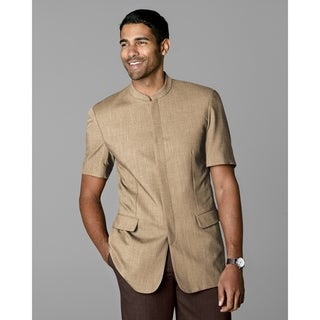 Twin Hill Mens Jacket Camel Heather Performance Short Sleeve