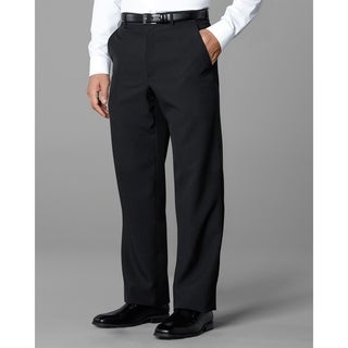 Twin Hill Mens Pant Black Poly Flat Front