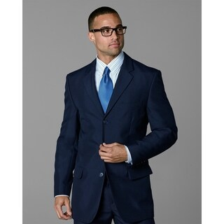 Twin Hill Mens Jacket Navy Poly 3-button (Option: 56r)