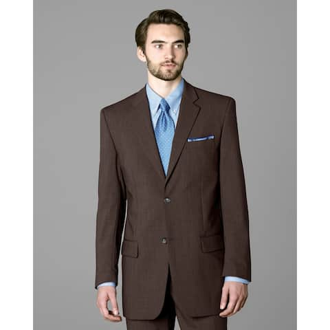 Twin Hill Mens Jacket Brown Heather Performance 2-button