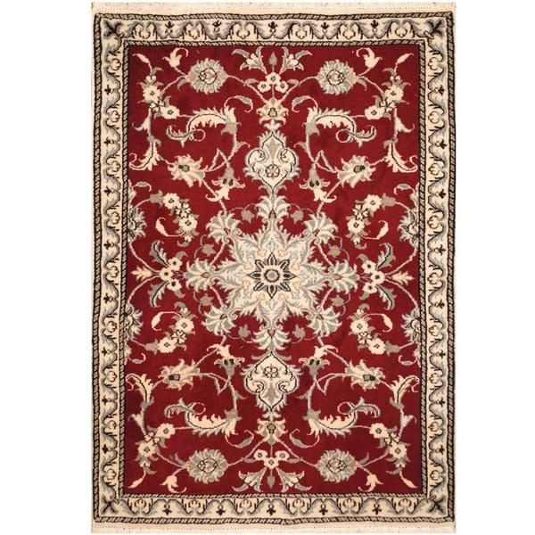 Handmade Herat Oriental Persian Nain Wool & Silk Rug (Iran) - 2'11 x 4'3