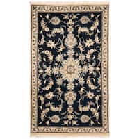 Herat Oriental Persian Hand-knotted Nain Wool & Silk Rug - 2'10 x 4'7