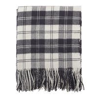 Classic Plaid Pattern Tassel Wool Blend Throw Blanket
