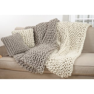 Link to Chunky Cable Knit Premium 100% Wool Throw Blanket Similar Items in Blankets & Throws