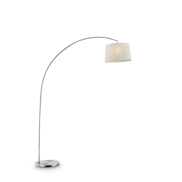 Ore International Oma Collection Brushed Nickel Arch Floor Lamp