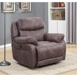 Alexander Power Recliner with Memory Foam Seat Topper, USB Charging Port and Power Adjustable Headrest