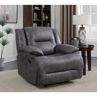 Dylan Rocker Recliner with Memory Foam Seat Topper
