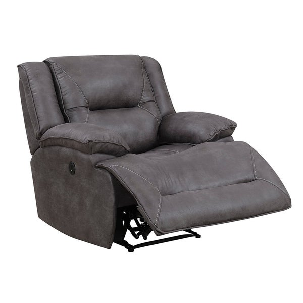 Dylan Power Recliner with Memory Foam Seat Topper and USB Charging Port - Free Shipping Today - Overstock.com - 23840143  sc 1 st  Overstock.com & Dylan Power Recliner with Memory Foam Seat Topper and USB Charging ... islam-shia.org