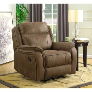 MorriSofa Hudson Rocker Recliner With Memory Foam Seat Topper