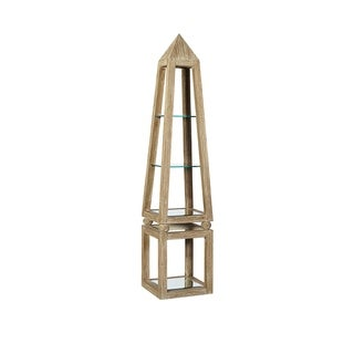 Common Home Ptolemy Wooden/Glass Etagere Shelving