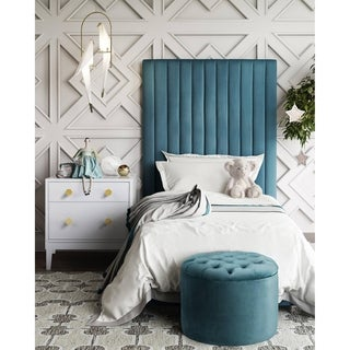 Link to Queen Velvet Storage Ottoman Similar Items in Cocktail Ottomans