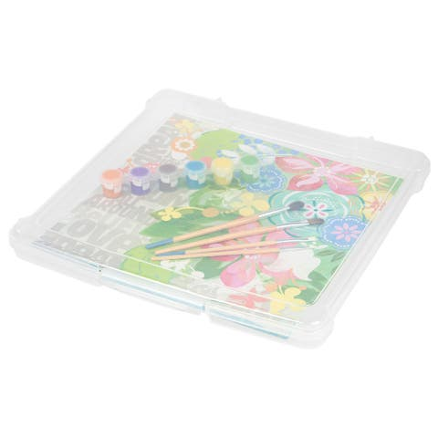 IRIS 12-inch x 12-inch Slim Portable Project Case, 10 Pack, Clear