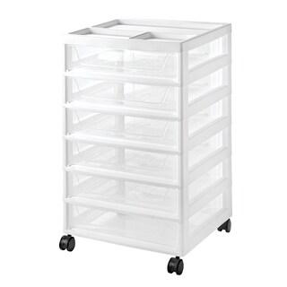 IRIS 6-Drawer Scrapbook Cart, White