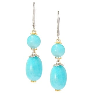 Michael Valitutti Palladium Silver Peruvian Amazonite Drop Earrings