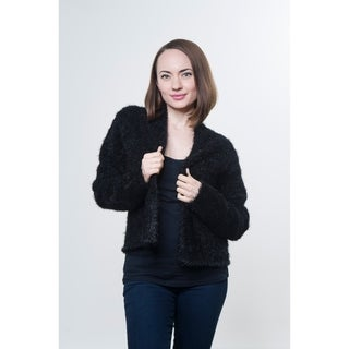 Short Feathered Solid KnitCoat Sustitute