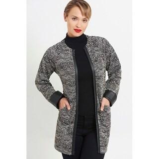 Long Sleeve Raglan No Closure Jacket with Front Pockets