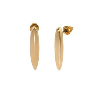 Eternally Haute 14k Gold plated Bar Drop Earrings