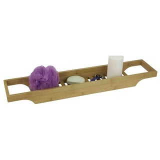 "Natural Wood Bathtub Caddy (27.25""X2.375""X5.5"")"