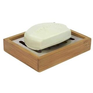 """Natural Wood Soap Dish (4.75""""X4""""X1"""")"""