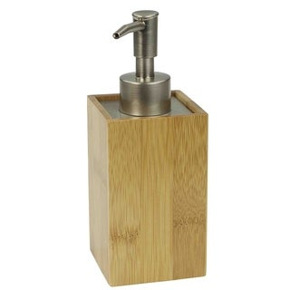 "Natural Wood Lotion/Soap Dispenser (6.75""X2.5"")"
