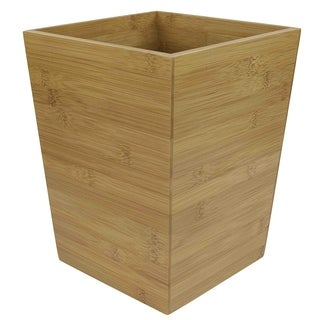 "Natural Wood Wastebasket (10.5""X7.75""X9.75"")"