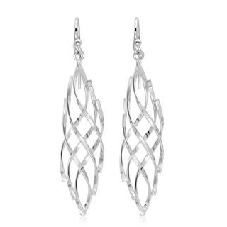 Marabela Sterling Silver Spiral Dangle Earrings