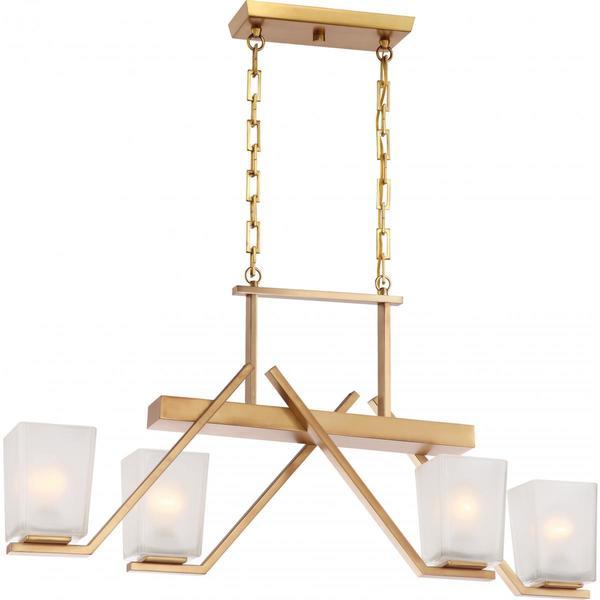 Nuvo Lighting Timone Brass Finish 4-light Trestle